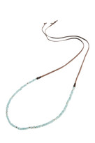 Simple Strand Gemstone Necklace in Blue Quartz & Silver