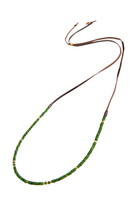 Simple Strand Gemstone Necklace in Emerald Quartz & Gold