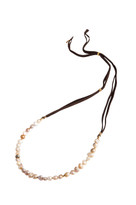 Pearl & Gemstone Necklace in Champagne