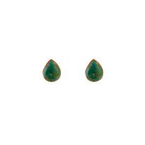 Teardrop Howlite Turquoise Studs