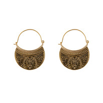 Octavia Hoop Earrings in Gold