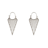 Kite Inverted Pyramid Earrings in Silver