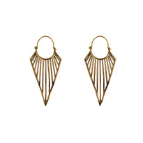 Kite Inverted Pyramid Earrings in Gold