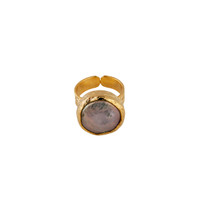 Bold Mother of Pearl Ring