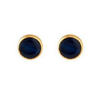 Margot Post Earrings with Navy Agate