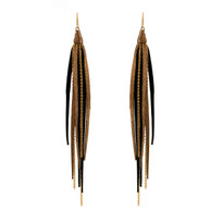 Tassle & Chain Earrings In Diva and Gold