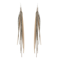 Tassle & Chain Earrings In Katie and Silver