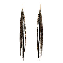 Tassle & Chain Earrings In Lee and Brass