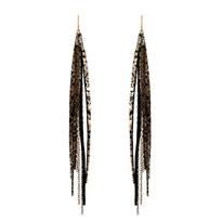Tassle & Chain Earrings In Lee and Brass