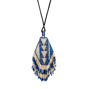 Taos Blue Beaded Necklace