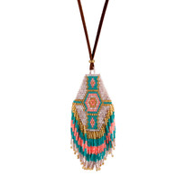 Taos Turquoise Beaded Necklace