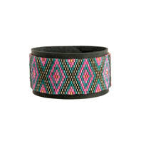 Taos Turquoise & Pink Beaded Cuff