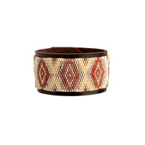 Taos Red & Chocolate Beaded Cuff