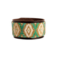 Taos Turquoise & Chocolate Beaded Cuff
