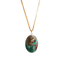 Fated Australian Jade Pendant Necklace on Leather