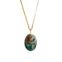 Fated Australian Jade Pendant Necklace on Leather