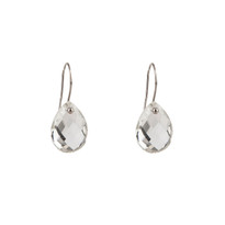 Drop Earrings in Quartz and Silver