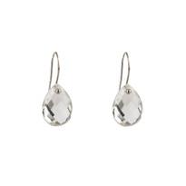 Drop Earrings in Quartz and Silver