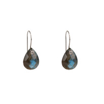 Luxe Labradorite Drop Earrings in Silver