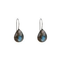 Luxe Labradorite Drop Earrings in Silver