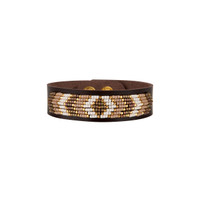 Drifter Beaded Leather Bracelet in Taupe