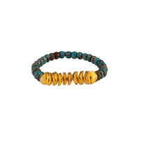 Jasper and Sequins Stretch Gemstone Bracelet