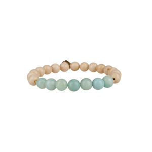 Amazonite and Jasper Stretch Gemstone Bracelet