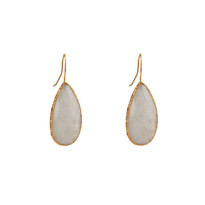 Elsa Long Drop Earrings In Moonstone