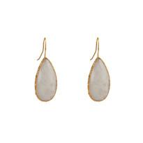 Elsa Long Drop Earrings In Moonstone