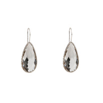 Elsa Long Drop Earrings In Quartz