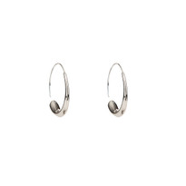 Go with the Flow Hoop Earrings in Silver