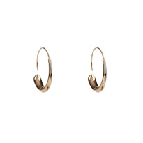 Go with the Flow Hoop Earrings in Gold