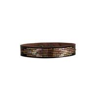 Cassia Beaded Leather Bracelet in Bronze
