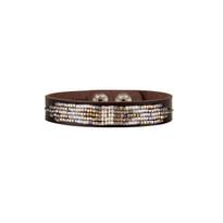 Cassia Beaded Leather Bracelet in Opal