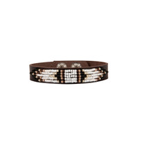 Cassiopeia Beaded Leather Bracelet