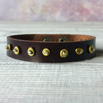 Meteor Beaded Solo Bracelet In Chocolate