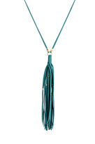 Gypsy Tassel Necklace in Emerald & Gold