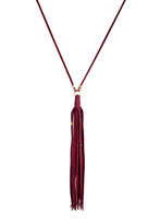 Gypsy Tassel Necklace in Vino & Gold