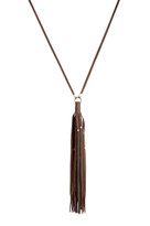 Gypsy Tassel Necklace in Ele & Silver