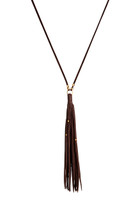 Gypsy Tassel Necklace in Bean & Gold