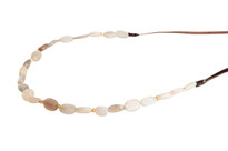 Moonstone Mood Beaded Necklace in Gold