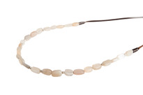 Moonstone Mood Beaded Necklace in Silver