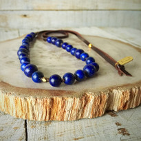 Dayna Beaded Necklace with Navy Agate