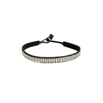 Mesh Leather Choker in Charcoal Shimmer