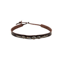 Stevie Labradorite Choker in Chocolate