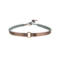 Riley Leather Choker in Gunmetal