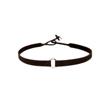 Riley Suede Choker in Bean