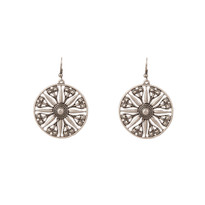 Silver Flora Earrings