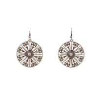 Silver Flora Earrings