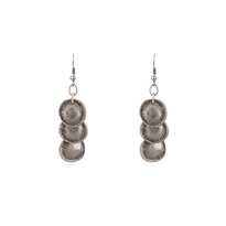 Silver Cosmic Medallion Earrings